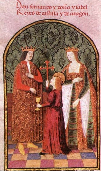 Queen Isabella I of Castile and León with her husband King Ferdinand II of Aragon.