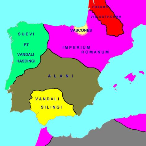Hispania in 418 AD