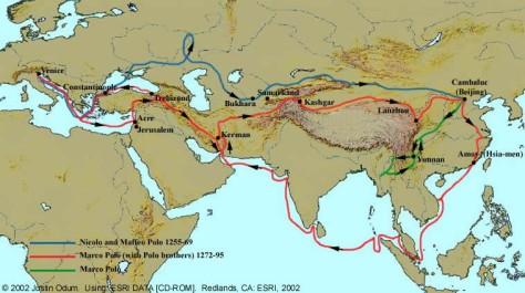 Marco Polo's Route (Source: httpdepts.washington.edu)