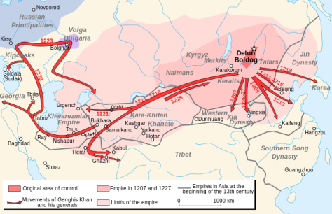 Mongol Empire, 13th century.