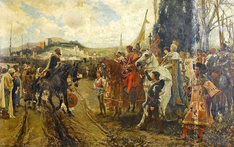 The Capitulation of Granada by F. Pradille y Ortiz, 1882.
