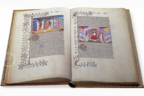 An illuminated manuscript on Marco Polo's fascinating and adventurous travels (Source: facsimilefinder.com)