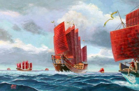 The treasure ships of Zheng He (Source: heritageinstitute.com)