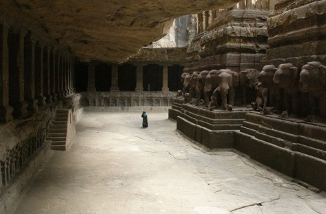 Life-size elephants carved on the base of the Shiva temple (Source: wondermondo.com)