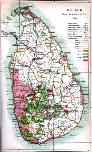 Map of Ceylon (1914)