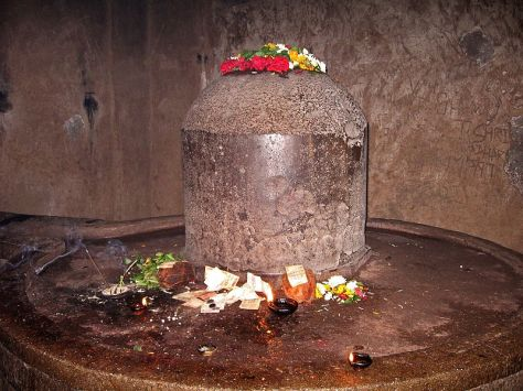 Shiva lingam at Kailash temple - (Source - Sanjay Acharya - Wikimedia Commons)