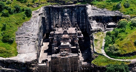 The Kailasnatha Temple, Ellora (Source: rediff.com)
