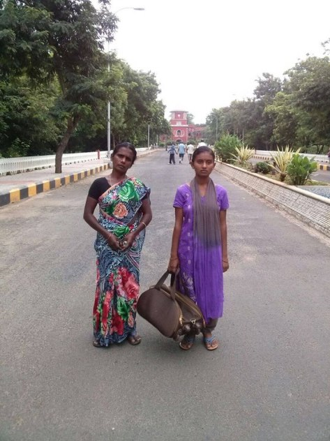 A Mother and daughter in Chennai (This picture was posted on Facebook)