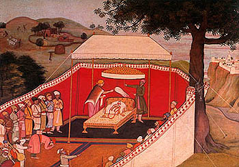 Guler painting (c. 1780 AD) of Bharata Worshiping the Sandals of his beloved step-brother Rama.