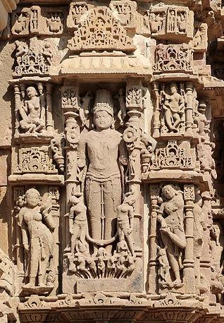 The Sun god at Guda Mandap at the Sun Temple, Modhera (Source: wikimedia.org)