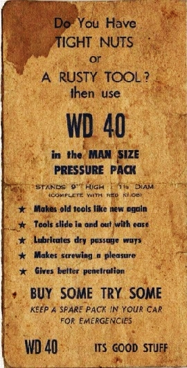 An old ad for wd-40