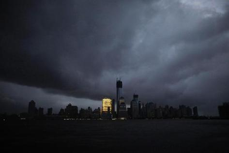 Spooky gray NYC skyline