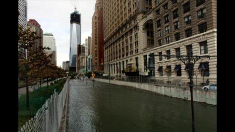 The Brooklyn Battery Tunnel is flooded after a tidal surge caused by Hurricane Sandy, on October 30, 2012 in Manhattan, New York. The storm has claimed at least 39 lives in the United States, and has caused massive flooding across much of the Atlantic seaboard. (Photo by Allison Joyce/Getty Images)
