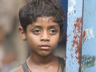 "A still from the film ""Slumdog Millionaire"""