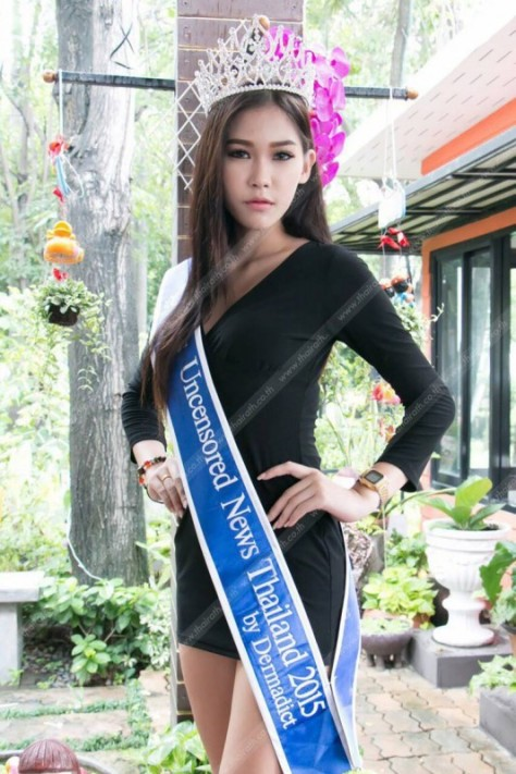 Khanittha 'Mint' Phasaeng, the beautiful Miss Uncensored News Thailand 2015 (Source - daliulian.net)