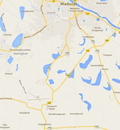 Map showing Valayankulam