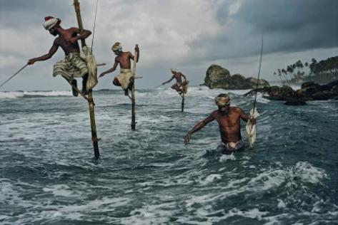 Stilts or Pole fishermen, Sri Lanka (Source: agmisgpn.org))