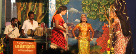 "Drama ""Valli Thirumanam, "" performed at Valayankulam Thanilinga Perumal temple..(Source: Facebook/Art and Cultural Rights of Folk Artists)"