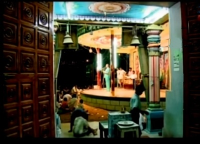 View of the stage from the sanctum sanctorum of Thaanaai mulaitha Thanilinga Perumal (தானாய் முளைத்த தனிலிங்கப் பெருமாள்)