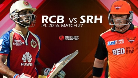 2016_04_30 - 8 pm IPL 9 - Match 27- RCB Vs SRH