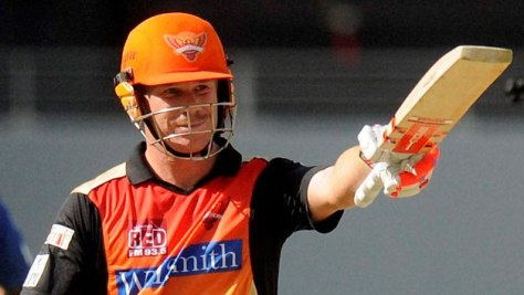 David Warner - Captain Sunrisers Hyderabad - Vivo IPL 2016 (Source: cricketcountry.com)
