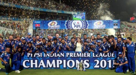 Mumbai Indians winners of the Pepsi Indian Premier League 2015 (IPL 8) (Source: indianexpress.com)
