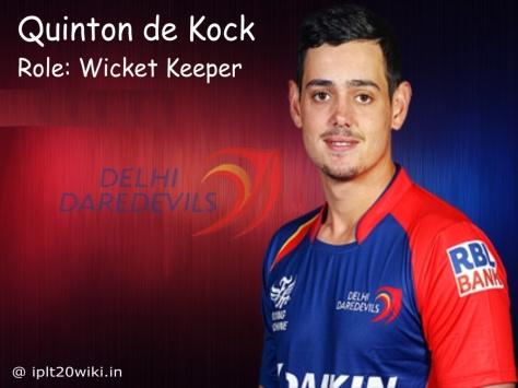 Quinton de Kock (Delhi Daredevils - IPL-2016) (Source: iplt20wiki.in)