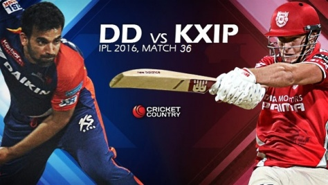 2016_05_07 - 8 pm IPL 9 - Match-36 - DD vs KXIP (Source -cricketcountry.com)