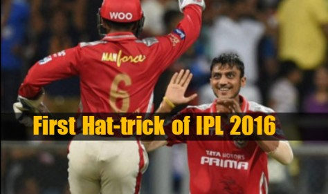 Axar Patel takes first hat-trick of IPL 2016 (Source: india.com)