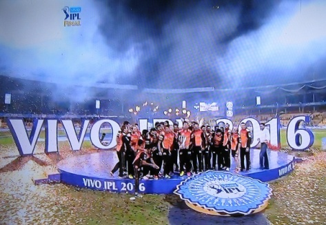 Sunrisers Hyderabad - Winners of Vivo IPL 2016 (Photo: T. V. Antony Raj)