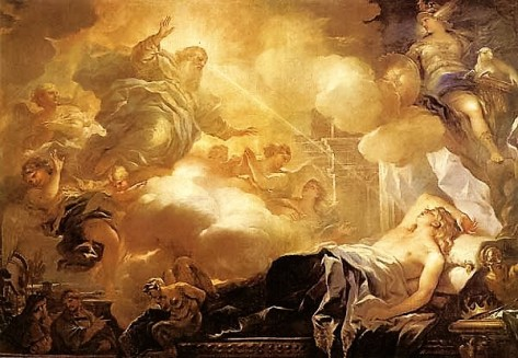 Dream of Soloman by Luca Giordano (Madrid, circa 1693)