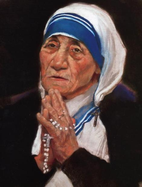 Mother Teresa - A painting by Mark Sanislo
