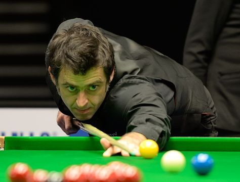 Ronnie O'Sullivan at Snooker German Masters 2015 in Berlin (Photo: DerHexer)